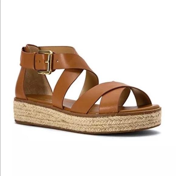 cfa7f6b92fbc Michael Kors Darby Flatform Sandal in Luggage- 7.5.  M 5ab172b53a112eaf77312891